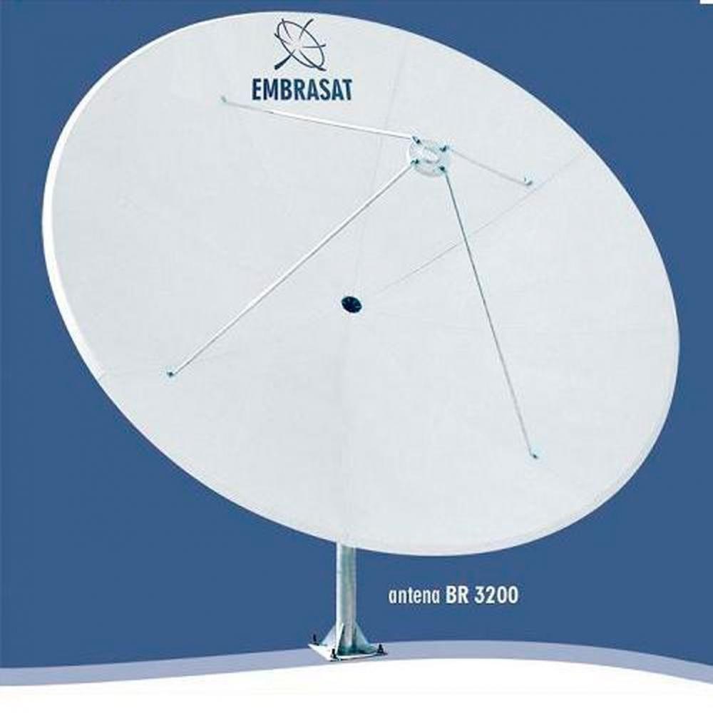 Antena Parabolica de Fibra 3.20mts