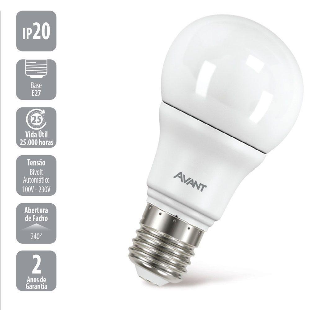Lâmpada Bulbo 9W Branca Fria – 10 peças  PROMOÇÃO