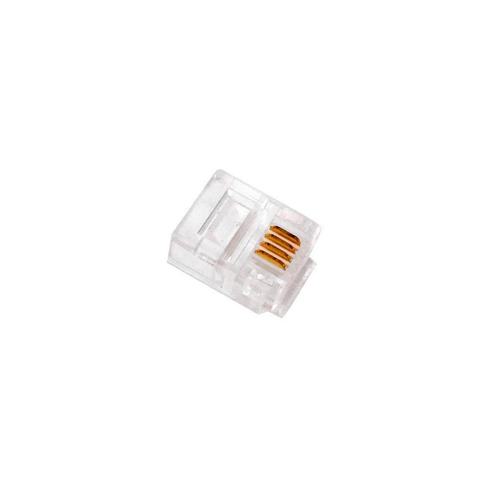Plug Modular 6P4C – RJ11 – 10 peças