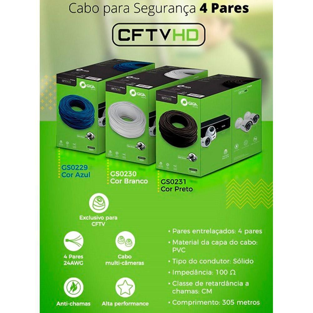 GIGA Cabo CFTV 4 pares GS0229 GS0230 GS0231 – ver cores