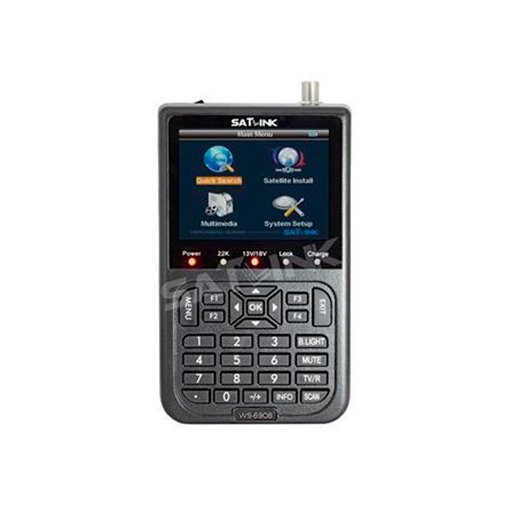 Medidor de Campo SATLINK WS6908 DVB-S (Modelo Econômico)
