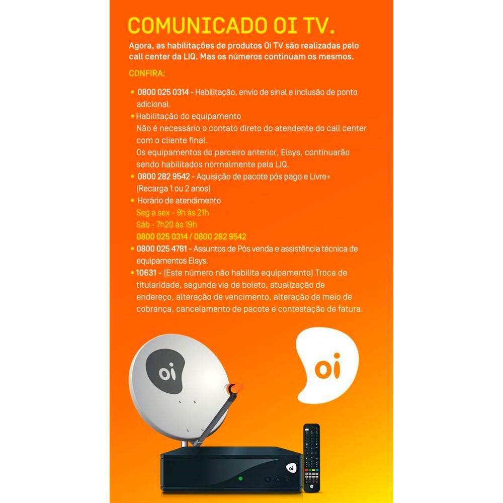 Receptor Oi Tv Livre Hd Habilitação Grátis KIT 10 Peças